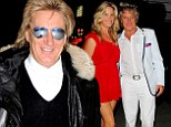 'She's just happy being a mom': Rod Stewart says wife Penny Lancaster is NOT joining the Real Housewives' cast as he jets out of Los Angeles