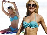 Enviable figure: Peta Murgatroyd paraded her incredible toned and tanned figure as she soaked up the sun on the beach in Los Angeles on Thursday