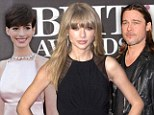 Taylor Swift earns more than Anne Hathaway and Brad Pitt COMBINED after making $57million in 2012