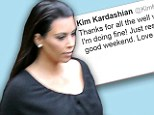 'I'm doing fine!': Pregnant Kim Kardashian steps out for first time after revealing she is on the mend after health scare