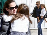 Don't they look pretty! Jennifer Garner and daughter Seraphina indulge in pampering session at the nail salon