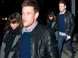 A pair of high flyers! Glee stars Lea Michele and Cory Monteith hold hands at airport in New York