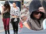 Why so shy? Selena Gomez hides in her hoodie and shades on way to dance class with friends