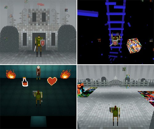 thedailywhat:</p> <p>Gaming News of the Day: Skrillex Quest Inspired by Legend of Zelda</p> <p>If you like Skrillex and The Legend of Zelda, you've probably heard of Skrillex Quest, a new browser-based 8-bit RPG inspired by the classic 1986 NES dungeon raider game and created by developer Jason Oda. The basic storyline follows a hero who is transported to a magical world and tasked with saving the Dead Princess Keys, which is of course heavily accompanied by Skrillex's music.</p> <p>This game is good, play it.
