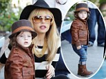 Mini fashionista! Rachel Zoe's 21-month-old son is the most stylish toddler around in leather jacket, biker boots and a feather in his cap