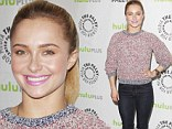 Gym junkie: Hayden Panettiere shows off her shapely legs in skin tight jeans