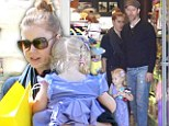 Superman star Amy Adams and her long term fiance Darren Le Gallo take their two year old daughter Aviana to a toy shop then a birthday party