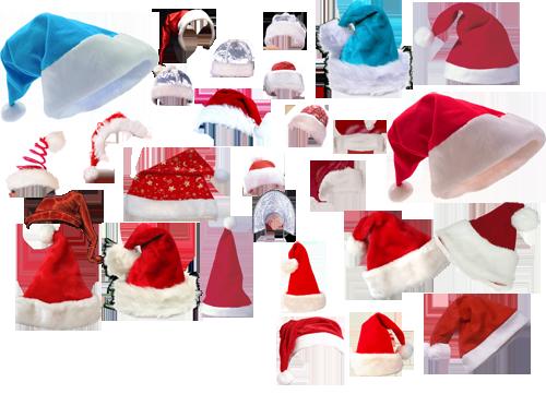 Скачать Новогодние шапки для фотошопа
