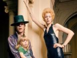 Turbulent relationship: Angie Bowie with the singer and son Zowie, now Duncan Jones, in February 1974 at a Hotel in Amsterdam
