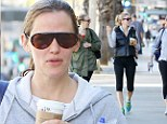 Finally, a breather! Jennifer Garner fits in some well-deserved 'me' time with friends at yoga class