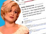 Pitch dark humor: Kelly Osbourne tweeted a joke at her own expense, on Sunday