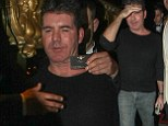 Simon Cowell enjoyed a night at Stringfellows in London this weekend