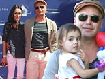 She's got my heart! Billy Zane is a doting daddy as he cradles daughter Eva Katerina at charity event