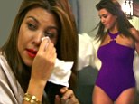 Devastated: Kourtney Kardashian was left in tears after Scott Disick criticised her for weighing 115lbs after the birth of their daughter Penelope in July last year