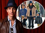 Matthew McConaughey promotes Mud at SXSW while Camila takes Levi and Vida shopping in New York