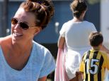 Britney Spears plays with son Jayden at their soccer match in Los Angeles, Ca. The pop star wa