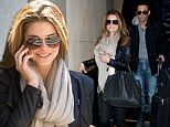 Touch down: Maria Menounos arrives in LAX with long-term partner Keven Undergaro