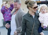 A family affair! Rebecca Gayheart and Eric Dane are a perfect team as they tend to their daughters on grocery run