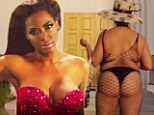 A step too far? Real Housewives Of Atlanta star Kenya Moore mocks costar and rival Phaedra Parks' fishnet get-up in wacky new music video