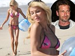 Brandi Glanville parades her bikini body... as Gerard Butler admits he didn't even know her last name after THAT one-night stand