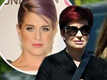 Concerned: With a worried look, Sharon Osbourne visited her daughter Kelly at the hospital on Sunday