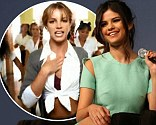 Selena Gomez, Ashley Benson and Rachel Korine sang a Britney Spears tune at the Spring Breakers Q&A at South By Southwest on Monday