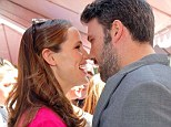 The look of love: Jennifer Garner and husband Ben Affleck rub noses at charity event