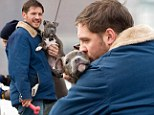 Bane would not approve! Tom Hardy kisses pup on set of Animal Rescue in New York