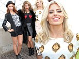 Empire State of hemlines: Una Healy, Vanessa White and Mollie King opt for short styles as they spend a day sightseeing in the Big Apple