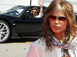 Surely he didn't valet that! Steven Tyler zooms off in $1.1m supercar after charity performance