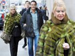 Ivana Trump, 64, dresses more her age in a chic suit... but camouflages it with garish fur shawl while on romantic date with her younger toyboy