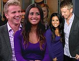 'The Bachelor' Sean Lowe appears with his new fiance Catherine Giudici on on ABC's 'Good Morning America