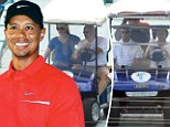 Comeback kid: Tiger Woods spent the week on his yacht with Lindsey Vonn