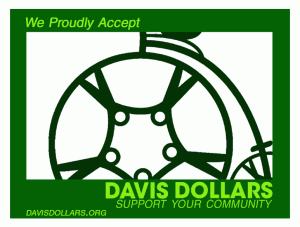 We Accept Davis Dollars Sticker