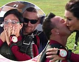 Captured on camera: The moment JWoww gets engaged after a terrifying skydive with her fiancé Roger
