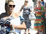 If it ain't broke: Heavily pregnant Busy Phillips shows her pregnancy curves in a zig-zag maxi after wearing same dress just weeks before