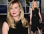 Keeping things classy: Kirsten Dunst is stunning and sophisticated in a sleek black dress as she steps out at film premiere