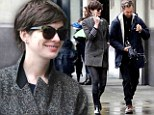 She looks boot-iful! Anne Hathaway wears wellies and racy short skirt on coffee outing in New York