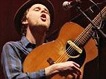 Wesley Schultz, Ben Wahamaki and Stelth Ulvang of The Lumineers perform on stage at Brixton Academy