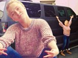 Surely a Mini would do? Tiny Hayden Panettiere poses next to giant SUV... and says it should be her 'next ride'