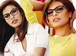 It's not the glasses we're looking at! Eva Mendes has specs appeals as she channels a sexy secretary in new eye wear campaign