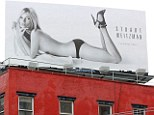 Distracting: The poster should probably come with a warning sign, as Kate's near-nude body is certainly eye catching