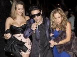 Sunglasses at night: Corey Feldman was seen leaving a night club with two pretty young girls