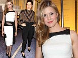 Fashion showdown! Maggie Grace gets it right in white while Marisa Tomei makes a rare fashion miss in frumpy black trousers