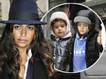 Baby it's cold outside! Camila Alves is stylish in white as her adorable children Levi and Vida wears cute padded parkas