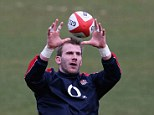 Back in action: Tom Croft is set to start for England for the first time since breaking his neck