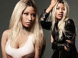 Unzipped and unmasked! Nicki Minaj poses in a leather jacket with nothing underneath as she gets a stunning makeunder