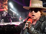 Guns N' Roses fan suing Axl Rose for $5,000 after singer knocked out his front teeth by throwing microphone