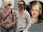 Joaquin Phoenix's 'girlfriend' double: Scruffy actor gets cosy with attractive doppelgänger blonde... but it's NOT Heather Christie