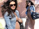 Happy mom-to-be: Jenna Dewan-Tatum on her way to doctor's appointment in Brentwood, California, on Wednesday